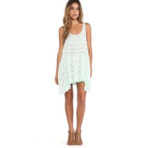Voile and Lace Trapeze Slip in Spring Green small